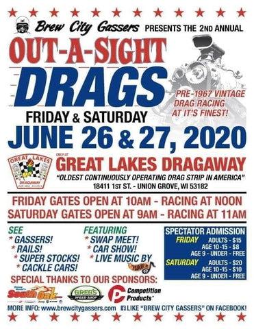 Out-A-Sight Drags, Union Grove WI, Nostalgia Drag Racing