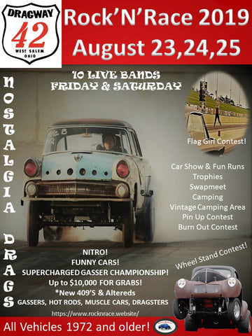 Rock N Race 2019 at Dragway 42 - Otie's Automotive Fiat Topolino