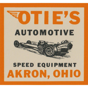 Otie's Automotive Nostalgia Drag Racing 1964 Self Stick Replica Decal