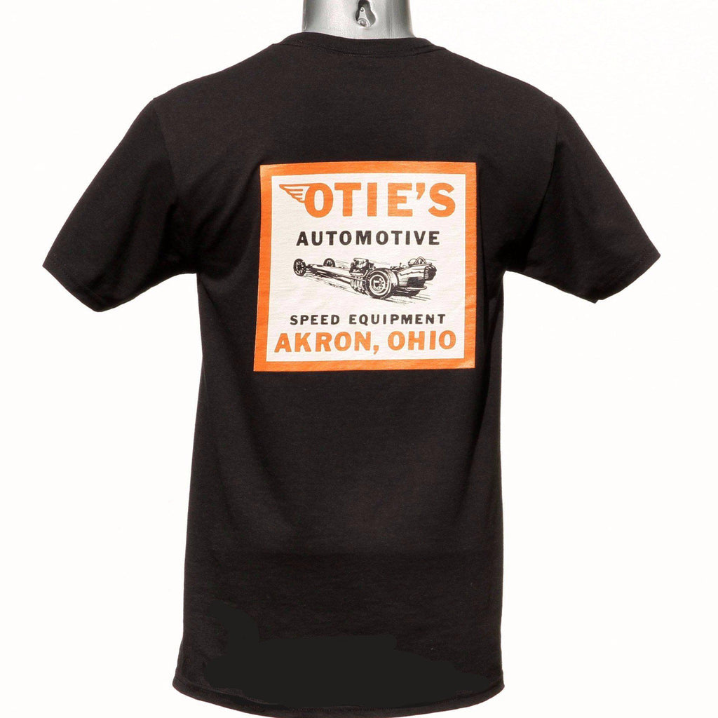 Otie's Automotive Nostalgia Drag Racing Vintage 1964 Decal T-shirt