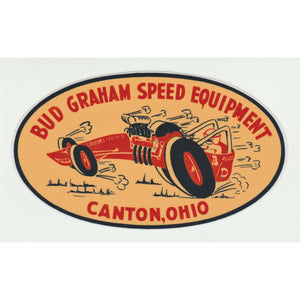 Replica Decal Bud Graham Speed Equipment Oval Decal