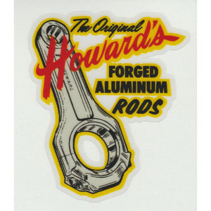 Replica Decal The Original Howard's Forged Aluminum Rods Vintage Sticker