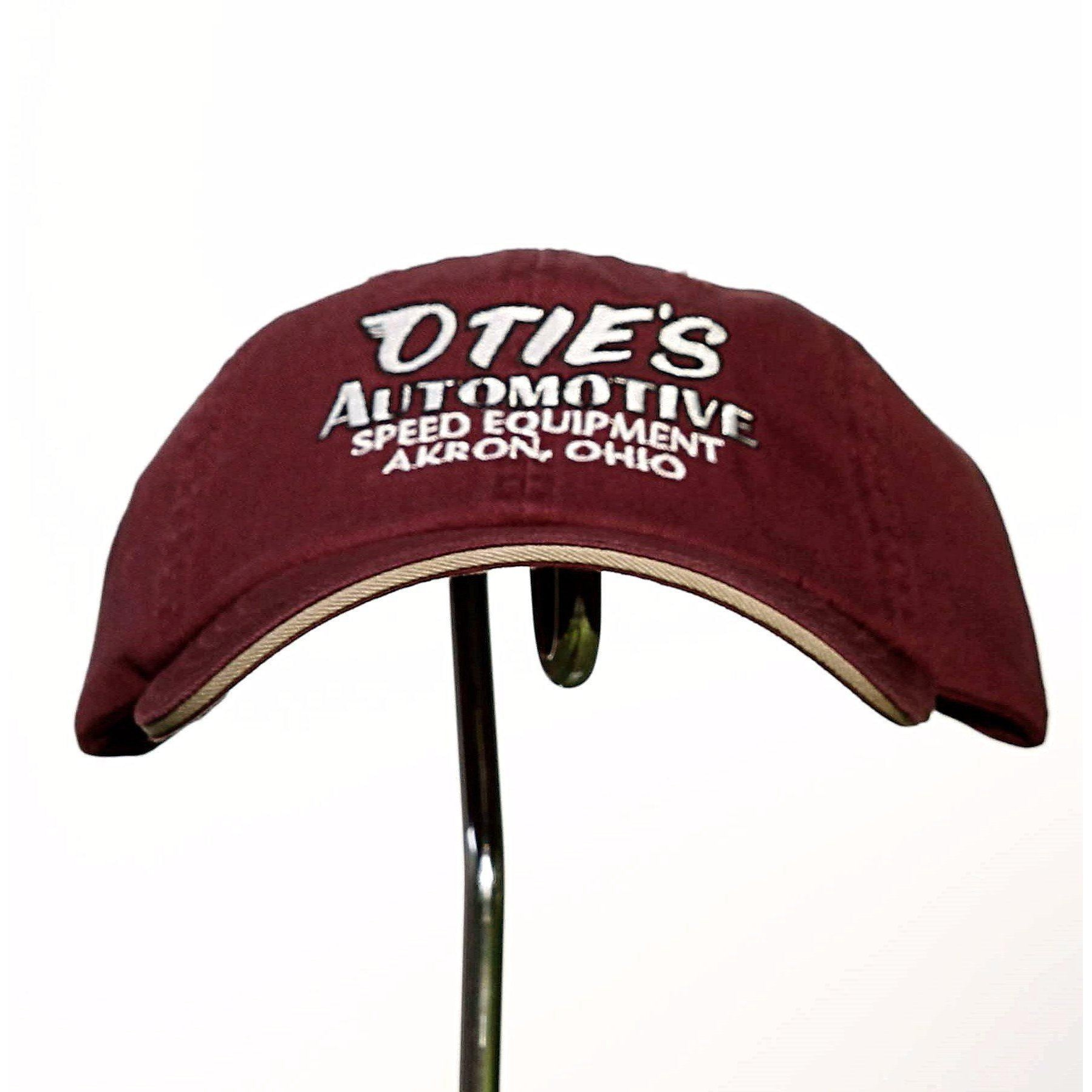 Otie's Automotive Nostalgia Drag Racing Classic Maroon Embroidered Hat