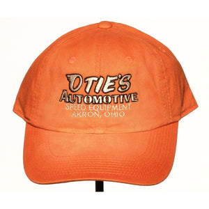 Otie's Automotive Nostalgia Drag Racing Vintage Faded Orange Hat
