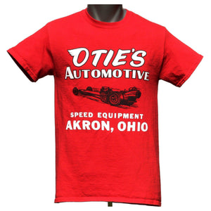 Otie's Automotive Nostalgia Drag Racing Red Dragster T-shirt
