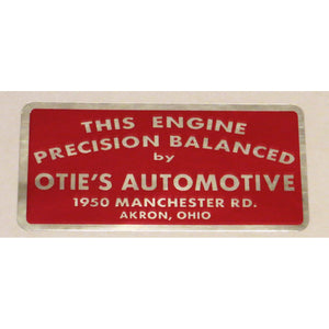 Engine Precision Balanced by Otie's Automotive Replica Decal Sticker
