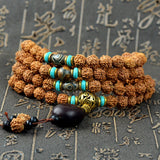 Tibetan 108 Bead Kingkong Bodhi Seeds Meditation Mala  - 3 Color Options