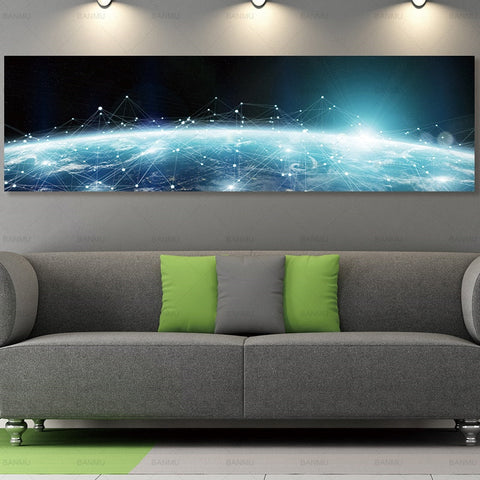 The Universe Wall Art on canvas - 6 Size Options (Unframed)