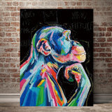 Gorgeous Animal Abstract Painting on Canvas - 8 Variations (Unframed)