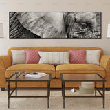 Elephant Eyes to the Soul Print on Canvas - No Frame