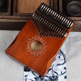 17 Key Black Handcrafted Mahogany Kalimba Thumb Piano