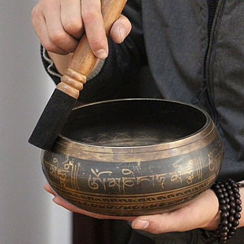 Solid Copper Tibetan Bowl Singing Bowl - 7 Sizes