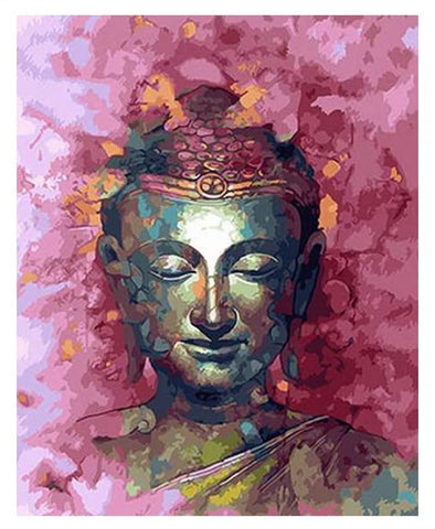 Framed DIY Paint By Numbers Abstract Buddha Painting - 6 Size Options