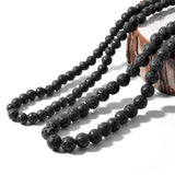 Black Volcanic Lava Stone or Tiger Eye Necklace