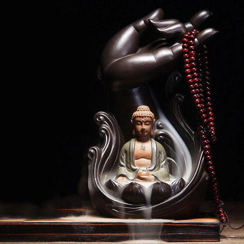 Ganesha Backflow Ceramic Smoke Waterfall Incense Burner