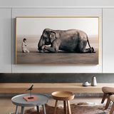 Buddha with Elephant Modern Canvas Painting