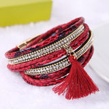 Genuine Leather Charm Bracelets & Bangles with Magnetic Clasp