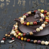 Handmade Mixed Sandalwood Buddhist Prayer Beaded Mala Bracelet - 2 Size Options