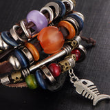 Punk Design Turkish Eye Bracelets with Adjustable Clasp - 4 Variations