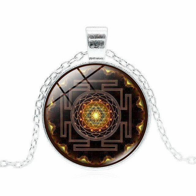 3 colors fashion buddhist sri yantra pendant necklace sacred buddhist sri yantra sacred geometry pendant necklace 3 colors aloadofball Gallery