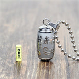 Stainless Steel  Mantra Bottle Ash Pendant Necklace  - 4 Variations
