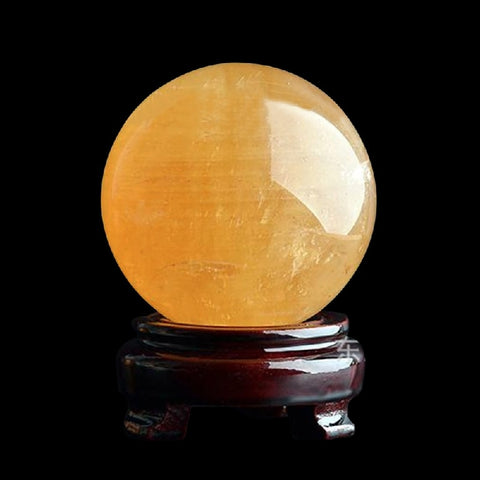 Amber Raw Quartz Crystal Ball