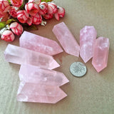 1PC Large Pink Rose Quartz Healing Crystal - 3 Size Options
