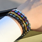 Stylized Hematite Bracelets - 4 Color Variations
