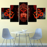 5 Piece HD Abstract Hindu God Frame Painting - 8 Size Options