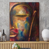 Abstract Buddha on Canvas - 3 Options (Unframed)