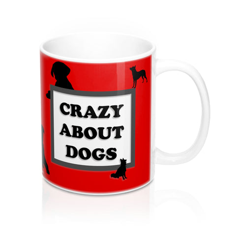 Mug 11oz - Crazy About Dogs - Red