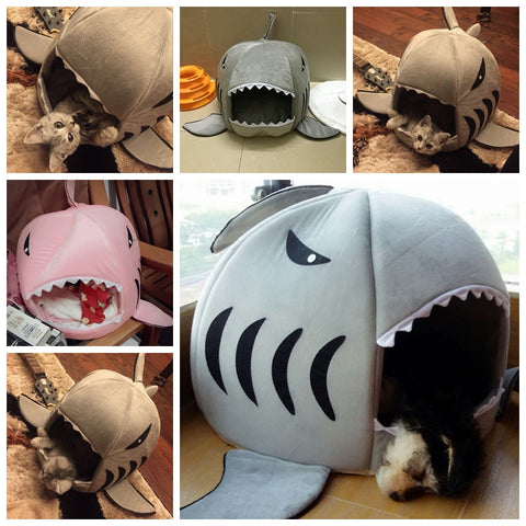 "Soft ""Shark"" House For Small Dogs"