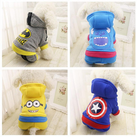 Cute Warm Hoodie for Small Dogs