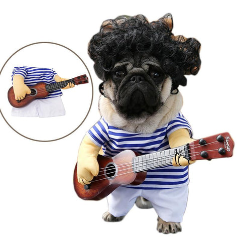 Guitar Player Cosplay Dog Costume