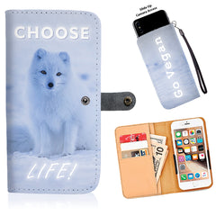 Choose Life - Go Vegan - Wallet Phone Case