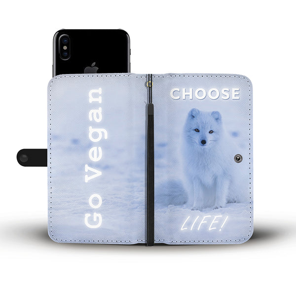 Choose Life - Go Vegan - Wallet Phone Case - Wish Epic