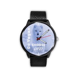 Choose Life - Go Vegan - Custom Designed Watch