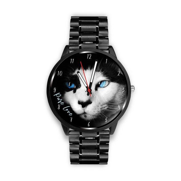 Blue Eyed Mystic Cat - Custom Designed Watch - Wish Epic
