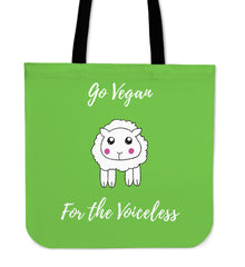 Go Vegan - For The Voiceless - Tote Bag