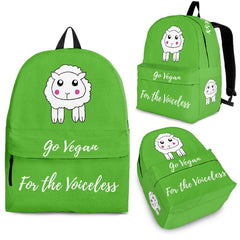 Go Vegan - For The Voiceless - Backpack