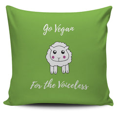 Go Vegan - For The Voiceless - Pillow Cover