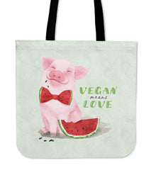 Vegan Means Love - Tote Bag