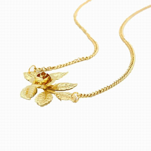 Gold Rose Leaves Head Chain - Wish Epic