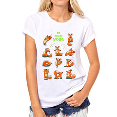 Baby Foxes Cotton T-Shirt For Women