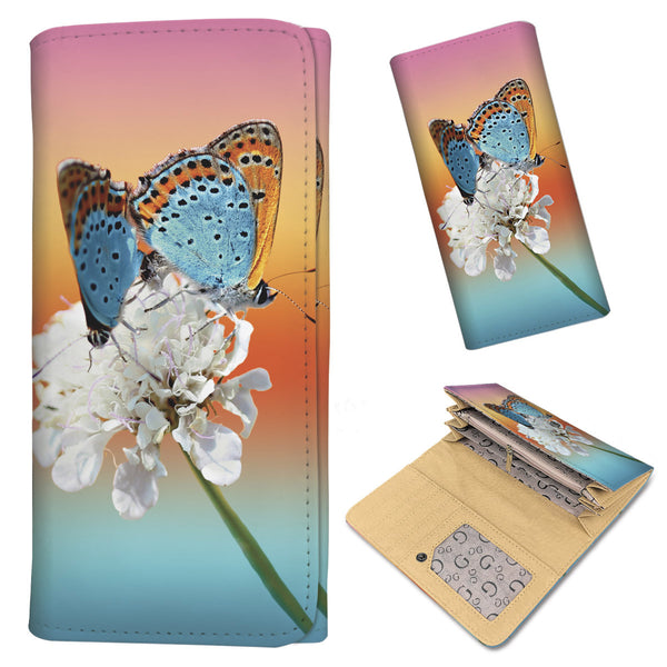 Azure Butterflies - Women's Wallet Purse - Wish Epic