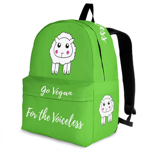 Go Vegan - For The Voiceless - Backpack - Wish Epic
