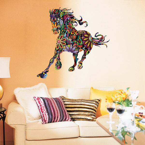 Beautiful Mural Art Horse Wall Sticker - Wish Epic