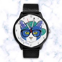 Pure Blue Cat - Custom Designed Watch
