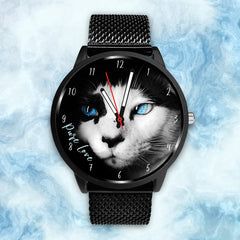 Blue Eyed Mystic Cat - Custom Designed Watch