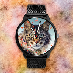 Pure Handsome Cat - Custom Designed Watch